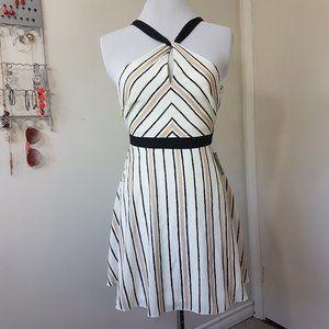 Lulu's White Striped Halter Dress